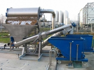 Gaparator CRS 300 receiving Solids Discharge Waste from ERS 2000