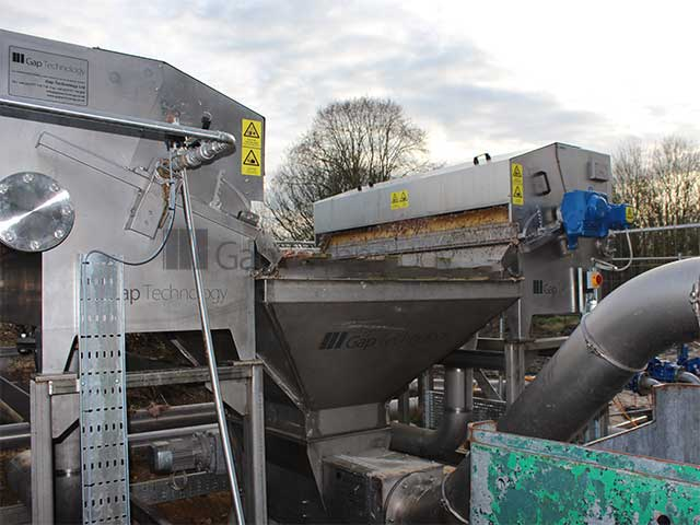 Gaparator ERS & CRS Combined System dewatering, separating and compacting all solid waste from the main factory prior to DAF.