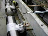 Intake Screen installation / Wedge Wire Water Treatment Clarification